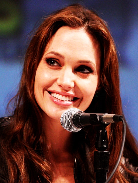 Jolie on the Salt panel at the San Diego Comic-Con in 2010