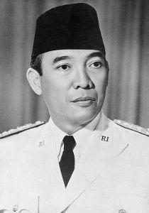 Soekarno, presiden pertama Indonesia.