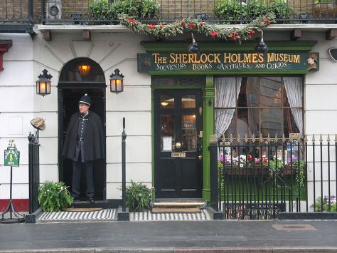 Sherlock Holmes Museum, Baker Street, London, bearing the number 221B