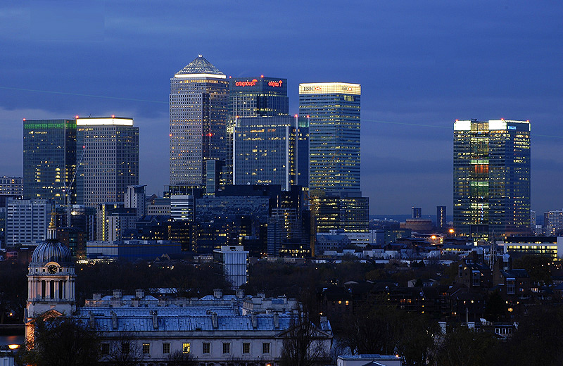 Canary Wharf is a major business and financial centre and is home to some of the UK's tallest buildings