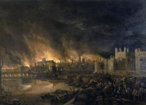 The Great Fire of London destroyed many parts of the city in 1666.