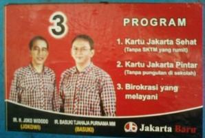 Poster kampanye Jokowi dan Basuki