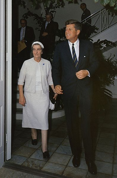 Israeli Foreign Minister Golda Meir with Kennedy, December 27, 1962