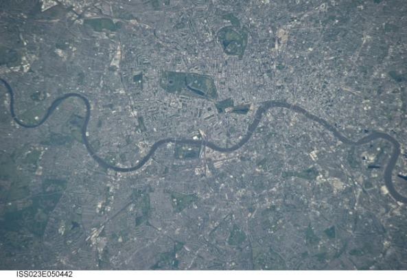 Satellite view of inner London