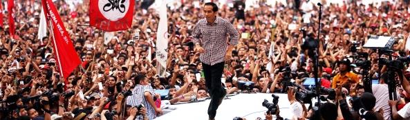 Jokowi di Konser Salam Dua Jari