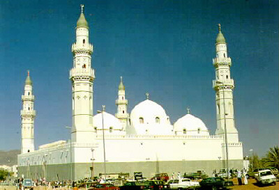 Masjid Quba di Madinah, Arab Saudi.