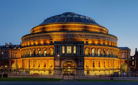 The Royal Albert Hall hosts concerts and musical events