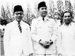 Hatta, Sukarno, dan Sjahrir, tiga pendiri Indonesia.