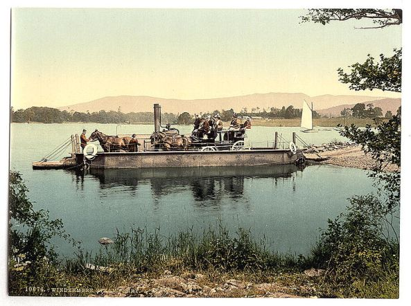 Steam ferry on Windermere, circa 1895