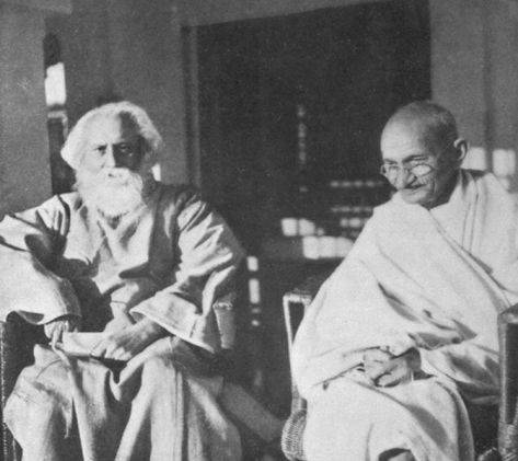 Gandhi with famous poet Rabindranath Tagore, 1940
