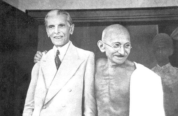 Gandhi and Muhammad Ali Jinnah, Bombay, 1944