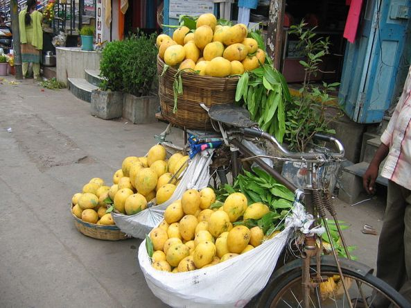 Banganpalli mangoes being sold in Vijayawada, India