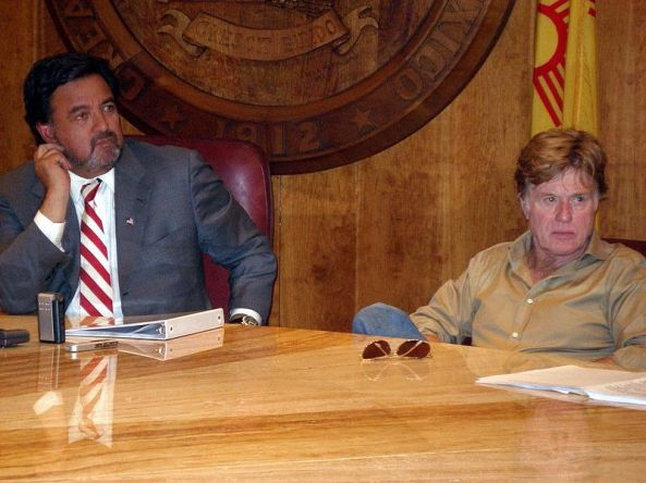 Redford with New Mexico Governor Bill Richardson in 2009