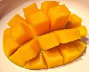 "The ""hedgehog"" style is a form of mango preparation."