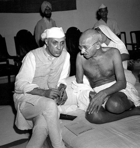 Gandhi and Nehru in 1942