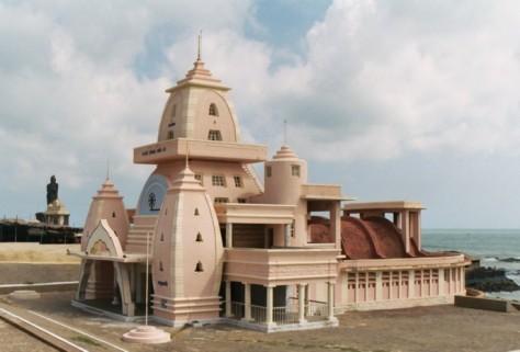 The Gandhi Mandapam, a temple in Kanyakumari, Tamil Nadu in India. This temple was erected to honour M.K. Gandhi.