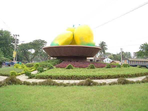 Mango roundabout, Rajshahi, Bangladesh