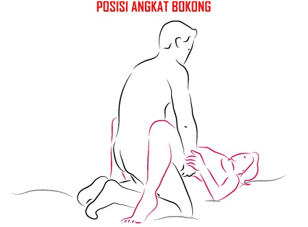 Image of the basic spooning sex position.