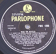 With the Beatles (side 1) - Parlophone yellow and black label.