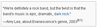 Evanescence_Statement