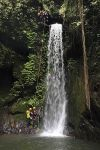 Canyoning in Gitgit Waterfall, Bali, Indonesia