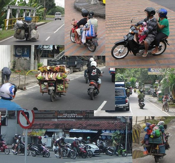 A major form of transport in Bali is the Moped