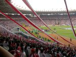 The Bung Karno Stadium during football match between Indonesia vs South Korea in 2007 AFC Asian Cup