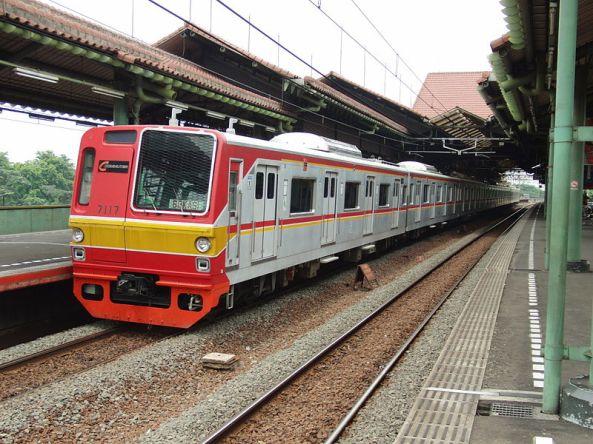 A KRL Jabotabek commuter train