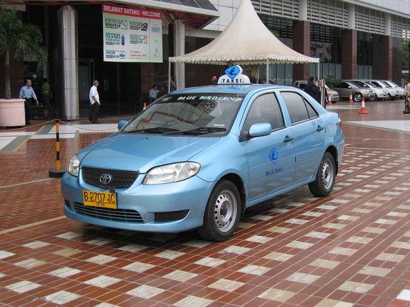 Taxi in Jakarta.