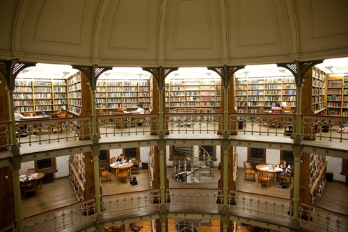 A view of the Linderman Library Rotunda at Lehigh University.