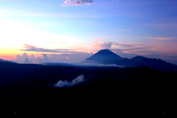 Mount Bromo as the Sun came up.