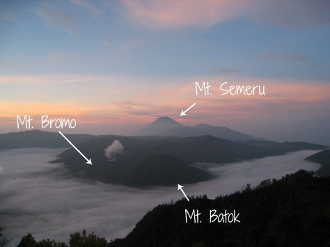 Labeled Mt Bromo