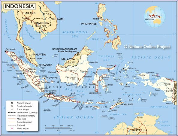 Political Map of Indonesia