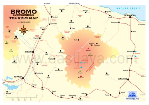 Mt. Bromo Map-1280