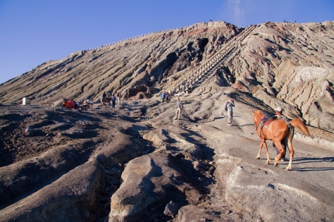 Riding up the Volcano Mount Bromo