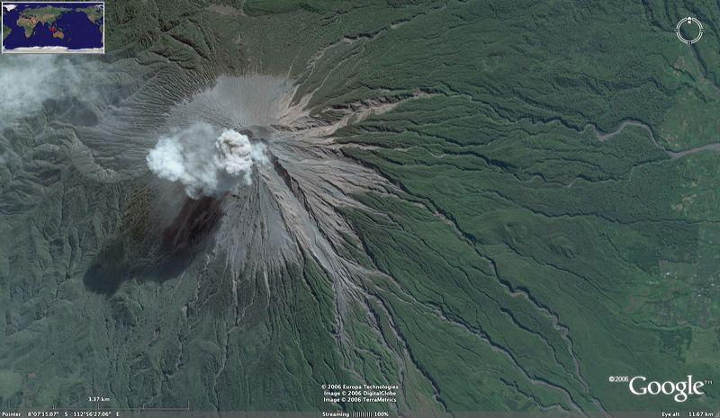 Satelite-semeru-mountain