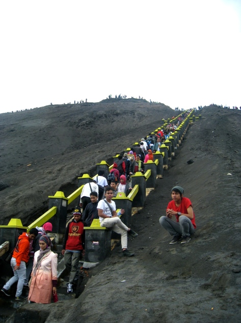 Staircase leading to the top of Mt. Bromo Volcano