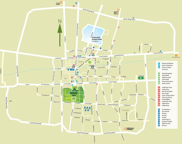 Yogyakarta City Map