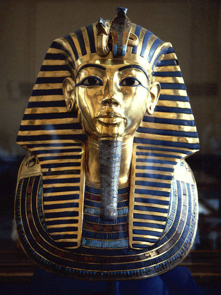 In the funeral mask of Tutankhamun (1341-1323 BC), lapis lazuli was used for the eyebrows of the young Pharaoh.