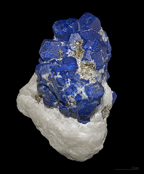 A sample from the Sar-i Sang mine in Afghanistan, where lapis lazuli has been mined since the 7th Millennium BC.