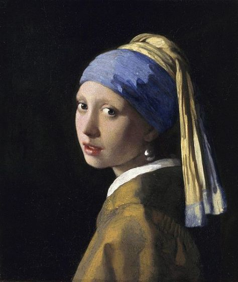 Girl with a Pearl Earring (1665) by Johannes Vermeer is painted with ultramarine, a natural pigment made from lapis lazuli.
