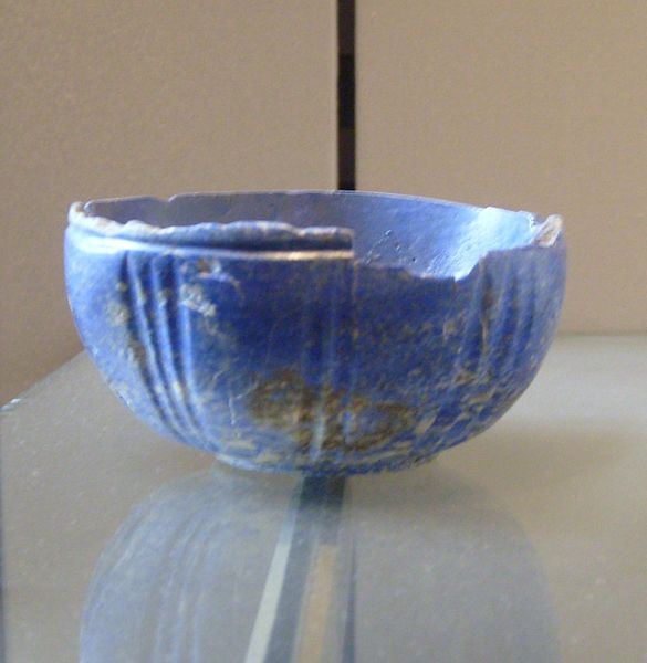 A lapis lazuli bowl from Iran (End of 3rd, beginning 2nd millennium BC)