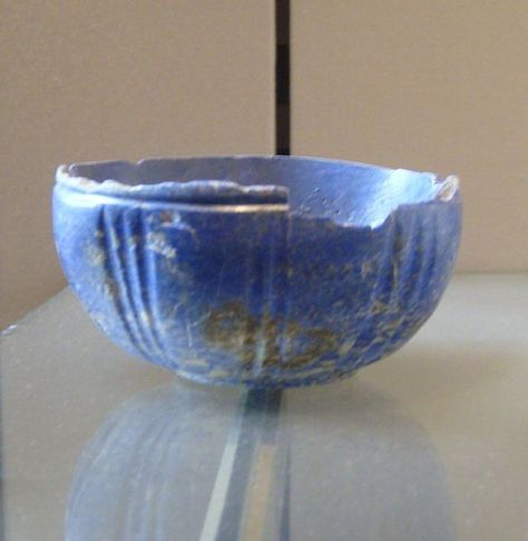 A lapis lazuli bowl from Iran (End of 3rd, beginning 2nd millennium BC)