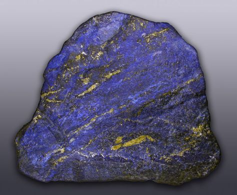 Lapis lazuli from Afghanistan in its natural state