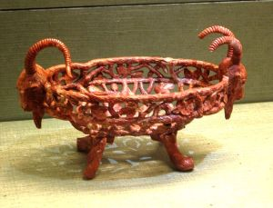 Goat-headed basket carved from red jasper. Russian, late 19th century, Kremlin Armoury