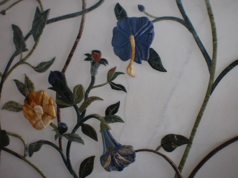 Sheikh Zayed Grand Mosque. More intricate stone flowers. How many different lithologies can you spot?