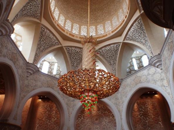 Sheikh Zayed Grand Mosque. A stunning chandelier.