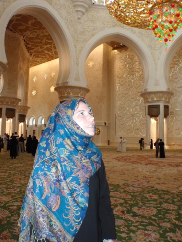 Sheikh Zayed Grand Mosque. Awestruck inside the mosque.
