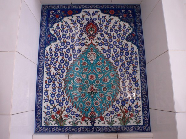 Sheikh Zayed Grand Mosque. Decorative tilework in one of the courtyards.