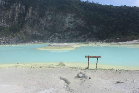View of Kawah Putih (White Crater)